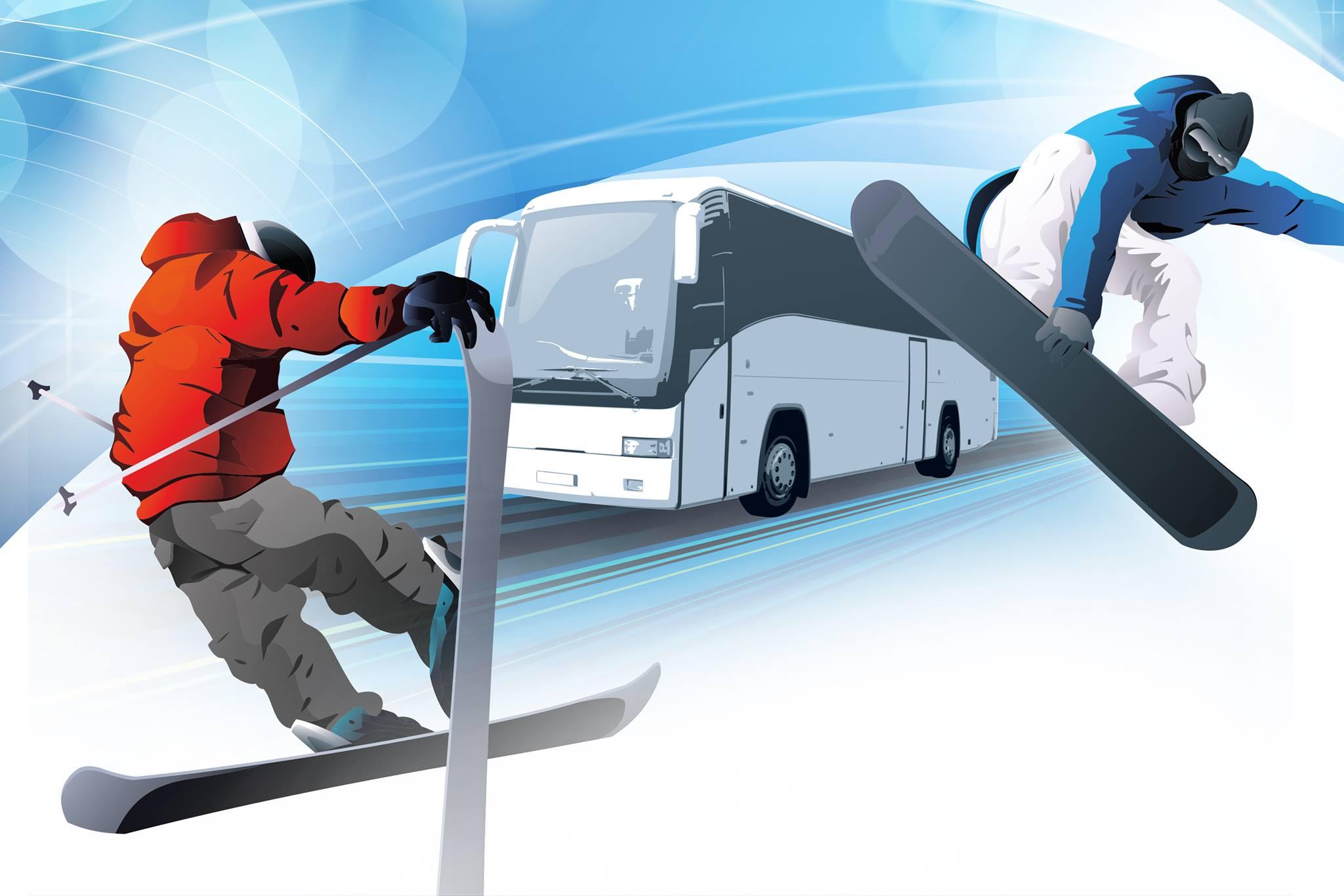Bus à la neige