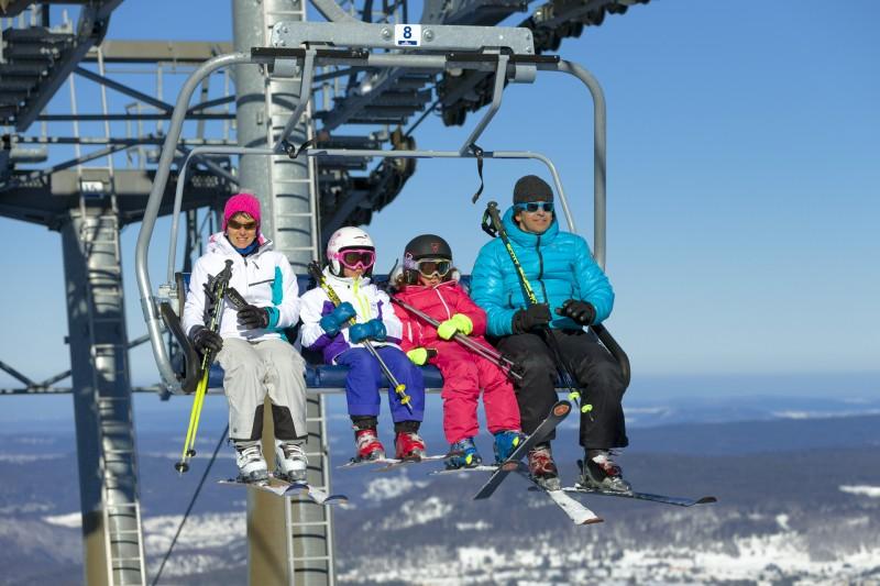 Ski en groupe