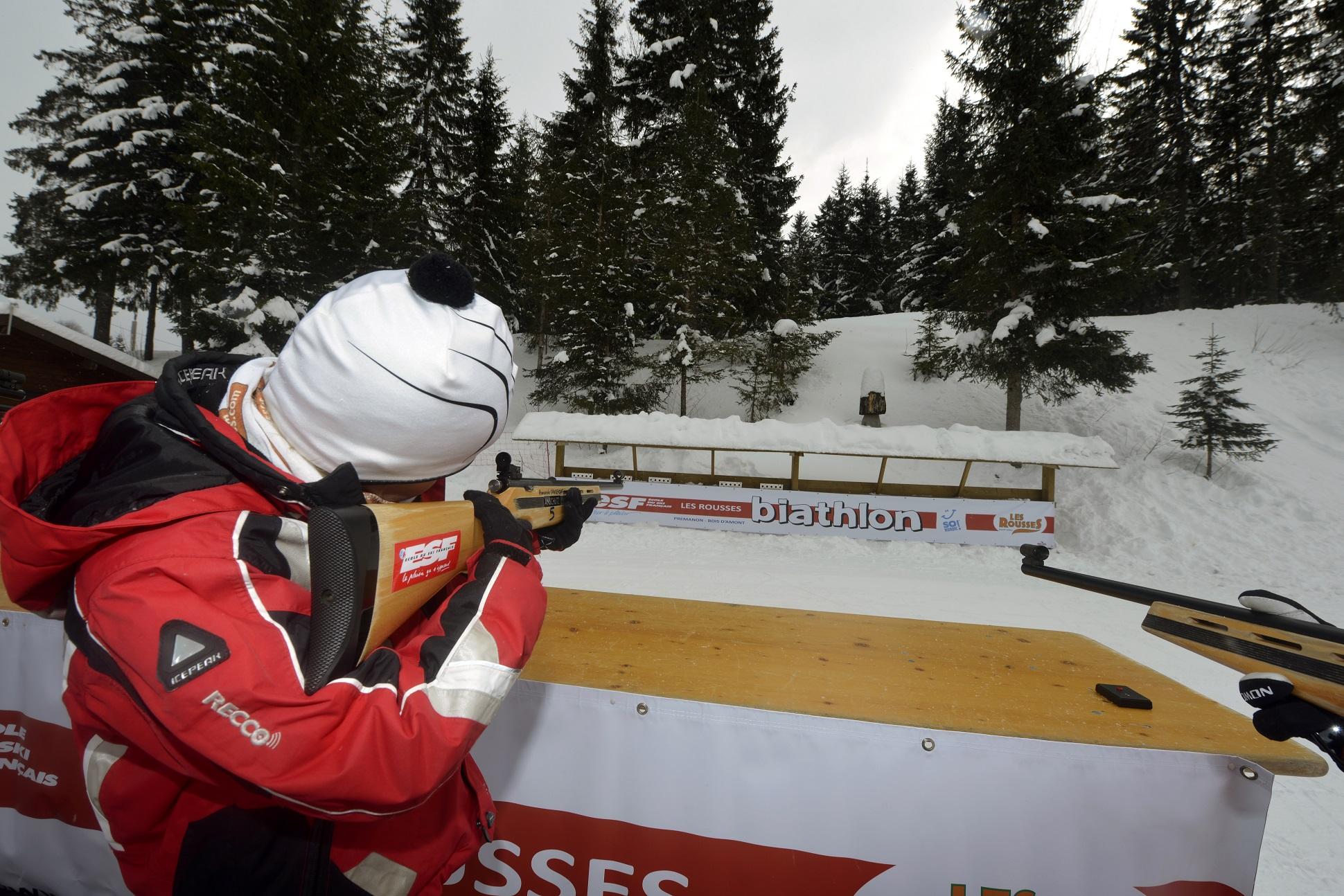 Biathlon - Station des Rousses - Hiver - Groupe - Jura - ESF