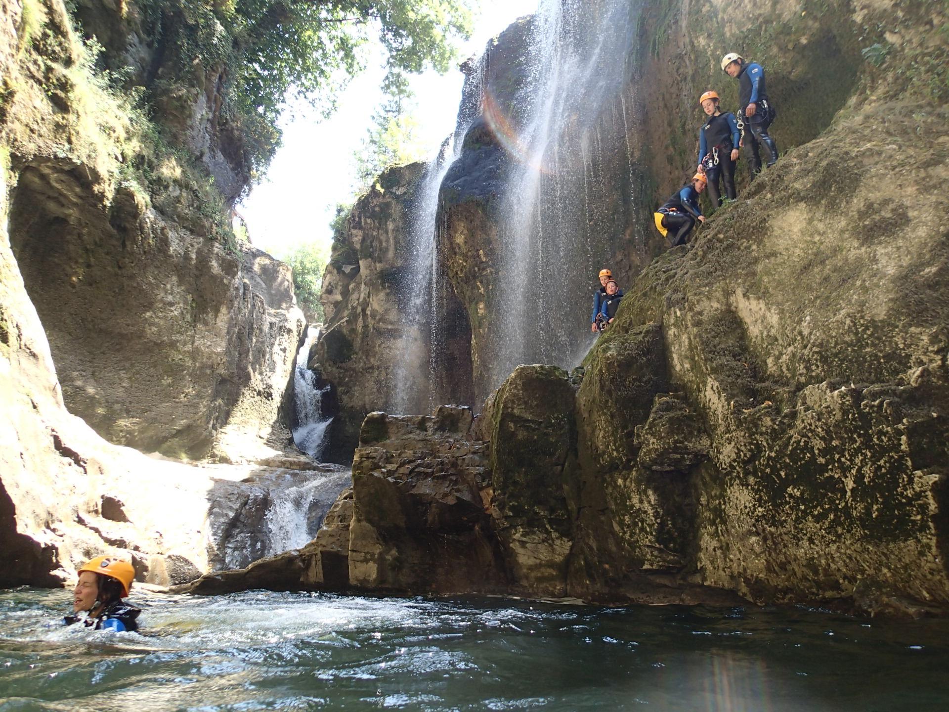 Canyoning - Activités - Sensation - Station des Rousses - Groupe - Jura