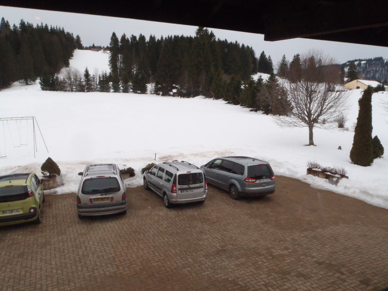 Appartement - Maison - Vue depuis le séjour - Vacances - Station des Rousses - Jura