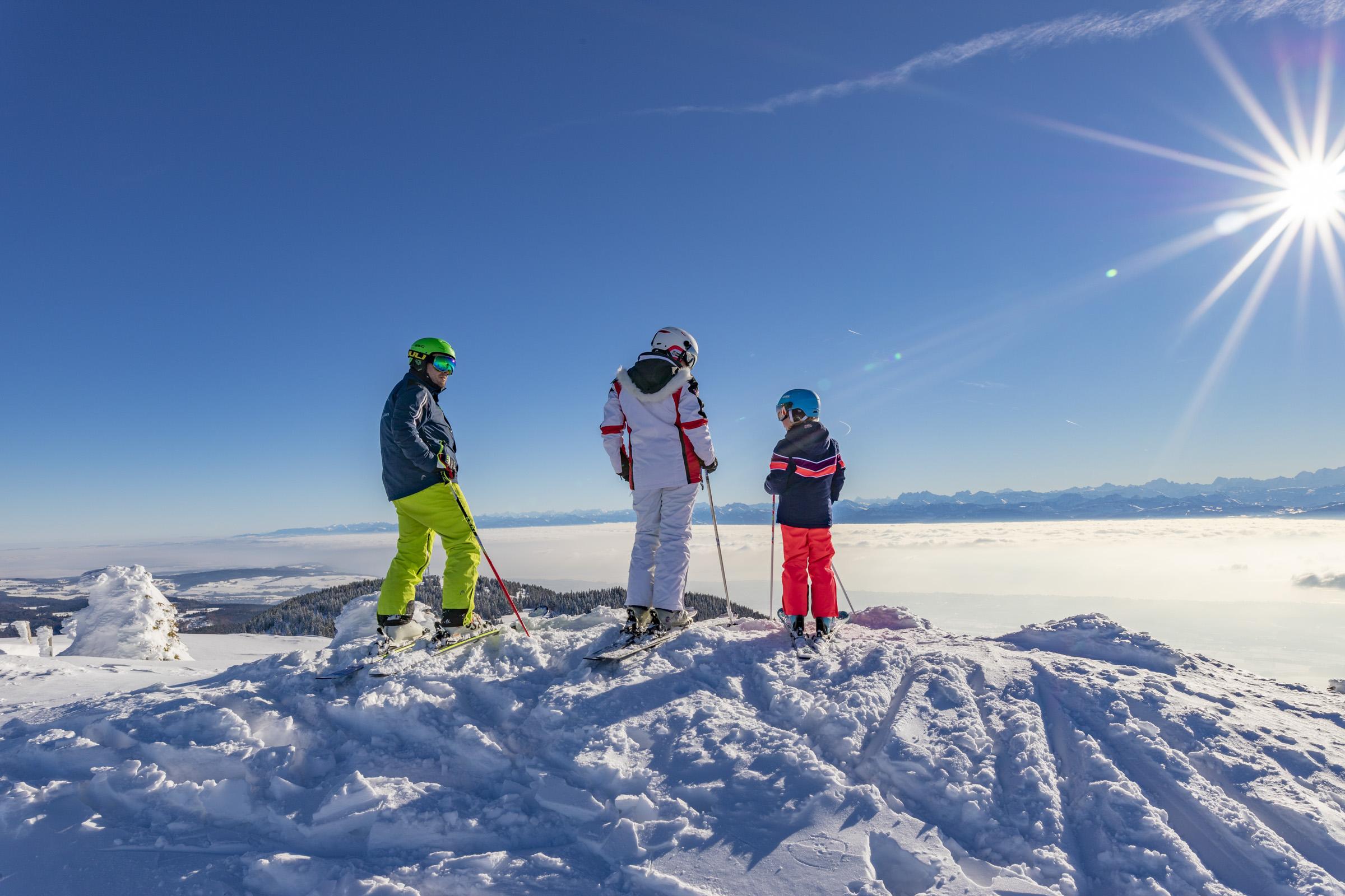 Ski - Station des Rousses -Jura - Hiver - Groupe - Alpin - Nordique