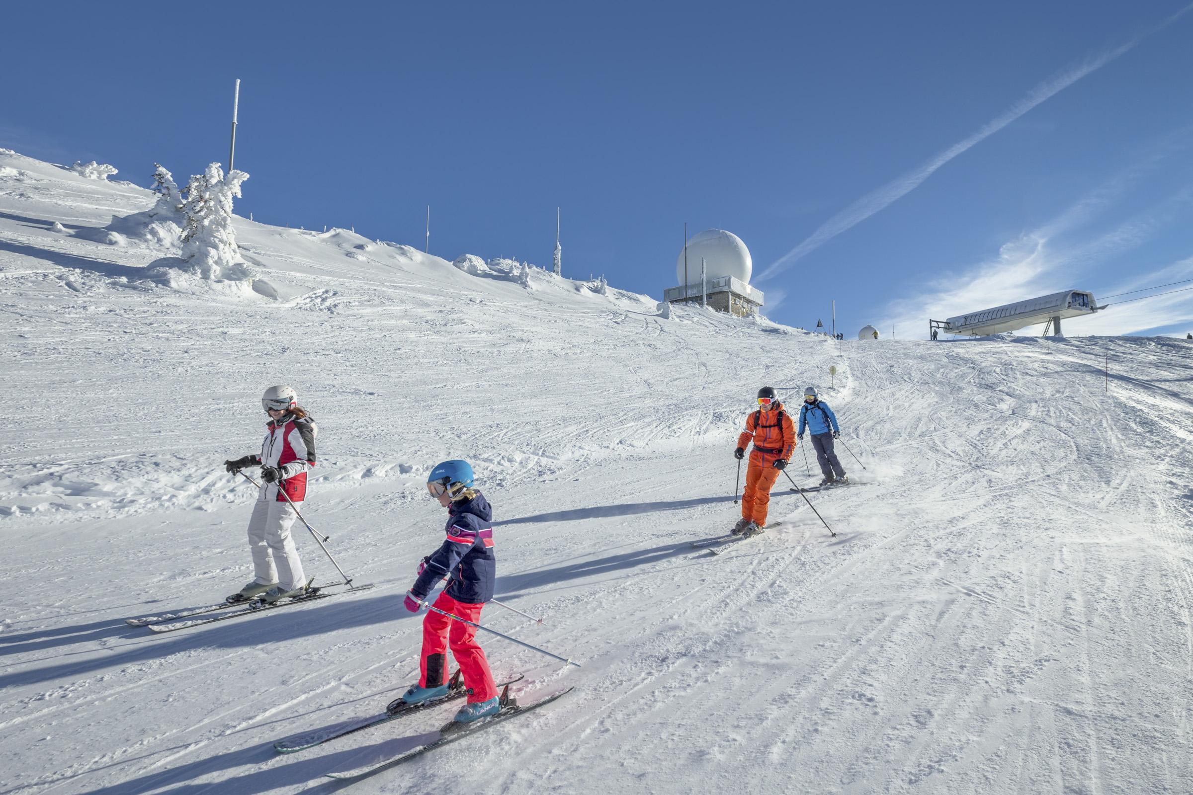 Ski - Station des Rousses -Jura - Hiver - Groupe - Alpin - Descente