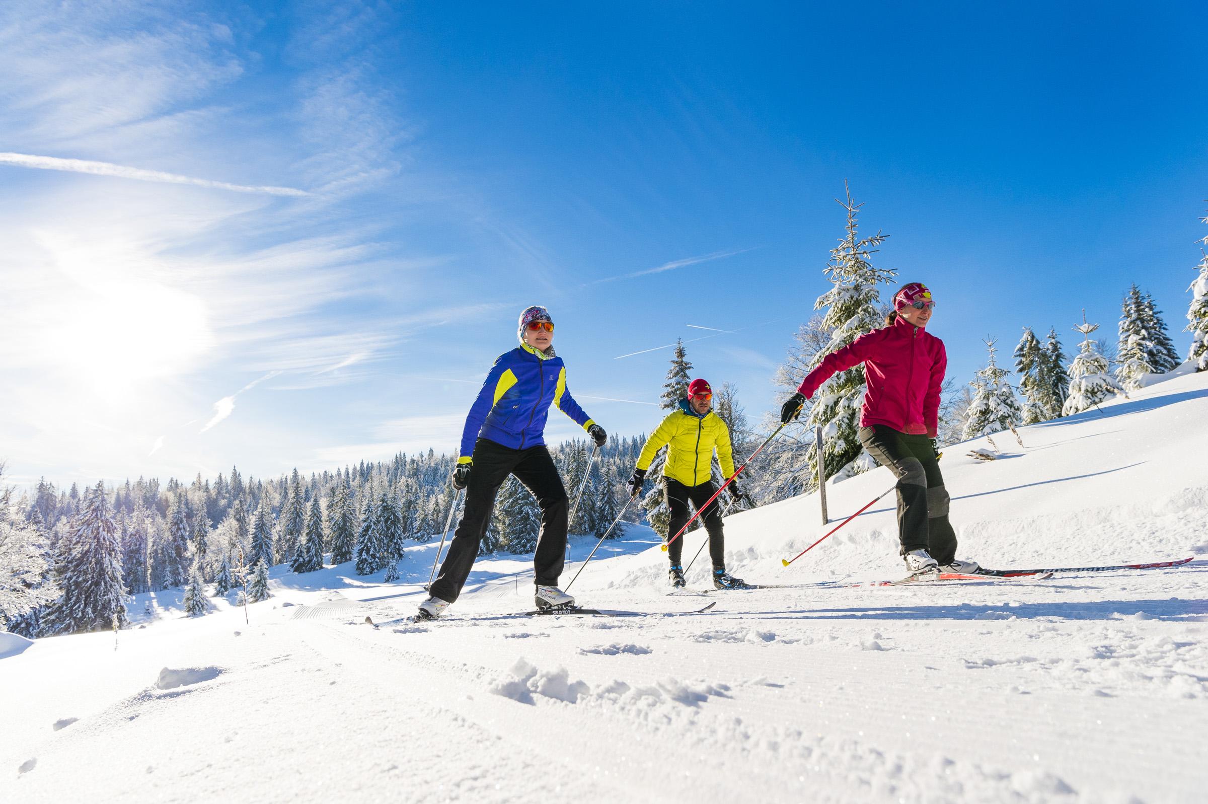Ski - Station des Rousses -Jura - Hiver - Groupe - Nordique - Ski de fond